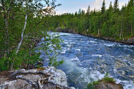 threshold: Threshold Padun on Umba River. Kola peninsula, Russia