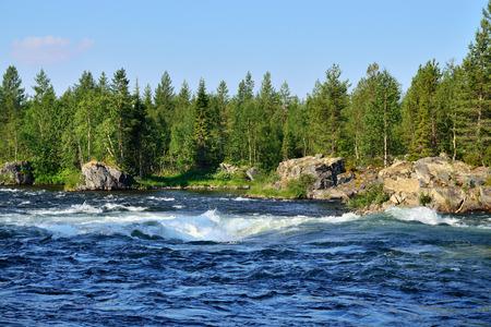 threshold: Threshold Padun on the Umba River. Kola peninsula, Russia