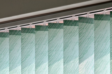 blinds: Modern vertical blinds on the window Stock Photo
