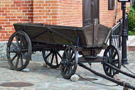 shafts: Vintage German wooden cart with shafts