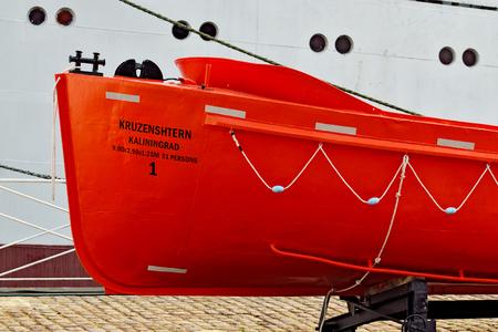 leer: lifeboat Stock Photo