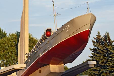 earlier: Torpedo boat, the monument to Baltic seamen. Kaliningrad earlier Konigsberg, Russia