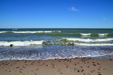 landfall: Rocks and Baltic sea surf