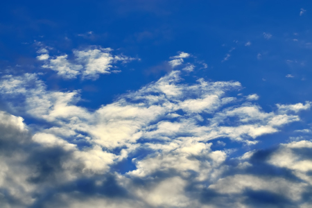 atmospheric phenomena: Heavenly landscape with Cumulus clouds Stock Photo