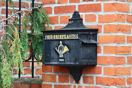 german ocean: Old German mailbox. Museum of the World ocean. Kaliningrad (until 1946 Koenigsberg), Russia