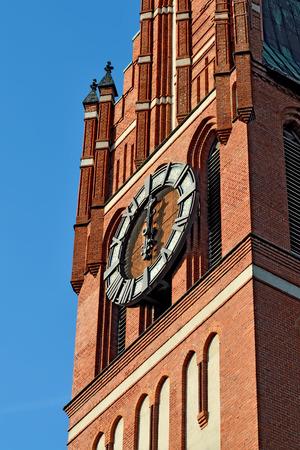 20th century: Church of the Holy family, neo-Gothic beginning of the 20th century. Kaliningrad (until 1946 Koenigsberg), Russia Stock Photo