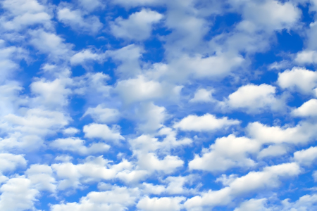cumulus: Cumulus clouds fly across the sky