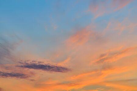 unaffected: Gentle sunset landscape
