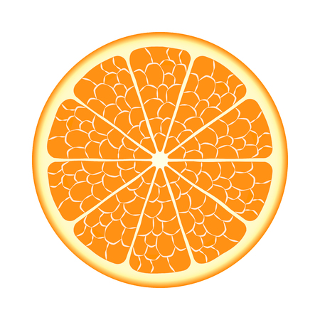 orange cut: Cut ripe orange fruit
