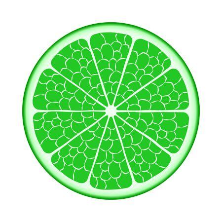 slit: Fruit lime in the slit closeup.