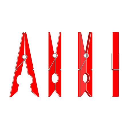 clothespin: Big red clothespin.