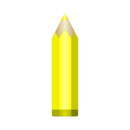 sharpened: Big yellow pencil with sharpened lead. Illustration