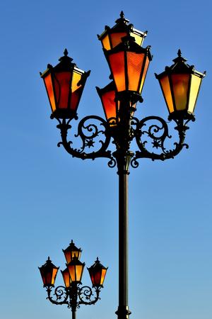 Lights of the fishing village. Kaliningrad, formerly Koenigsberg, Russia