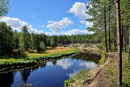 River Chirko-Kem. Karelia, Russia Stock Photo