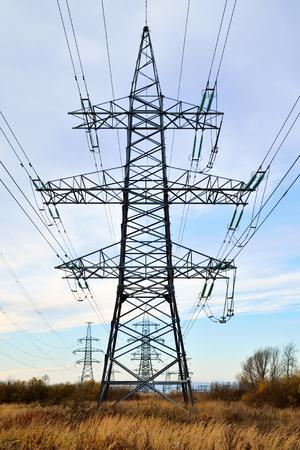Power line closeup Standard-Bild