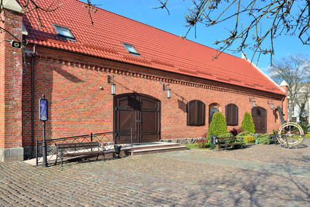 Old German warehouse. The World ocean Museum, Kaliningrad, formerly Koenigsberg, Russia Standard-Bild