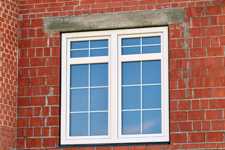 Modern window in building house Stock Photo