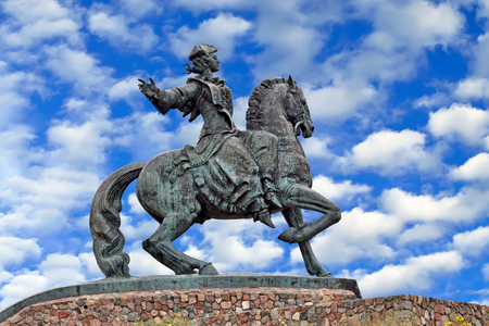 Equestrian statue of Empress Elizabeth Petrovna. City Baltiysk, Kaliningrad region, Russia Stock Photo