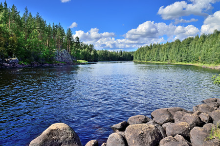 River Chirko-Kem. Karelia, Russia Standard-Bild