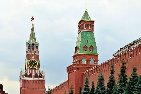 Spasskaya Tower of the Moscow Kremlin. Moscow, Russia