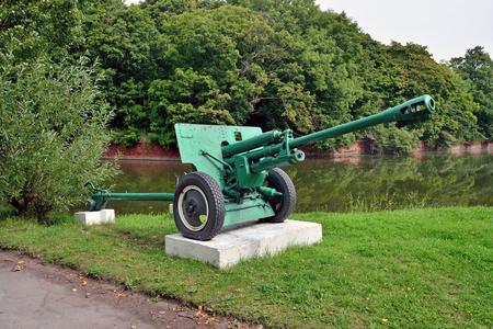 76-mm divisional gun M1942 ZiS-3. City Baltiysk, Kaliningrad obl