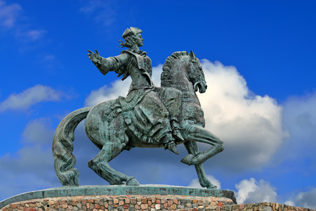 Equestrian Monument Empress Catherine Petrovna. Baltiysk City, f Stock Photo