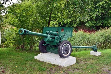 Denkmal 76-mm Divisionsgewehr M1942 ZiS-3. Stadt Baltiysk, Kalini Editorial