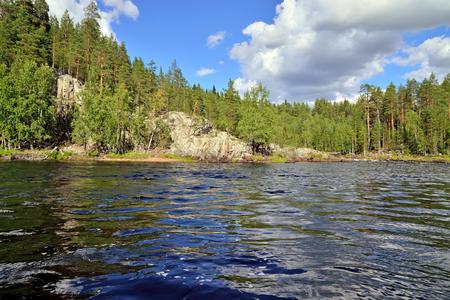 Fluss Chirko-Kem. Karelien, Russland Lizenzfreie Bilder