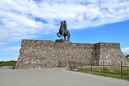 Reiterstatue der Kaiserin Elizabeth Petrowna. Baltiysk, bis 1946 Pillau, Russland