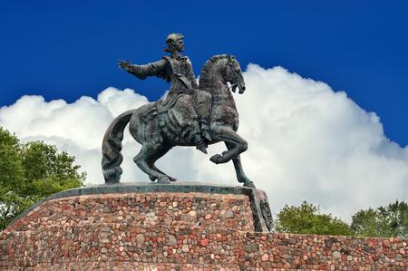 Equestrian statue of Empress Elizabeth Petrovna. Baltiysk, until 1946 Pillau, Russia
