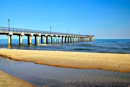 Sea promenade. City-resort Pionersky, Neukuhren, Kaliningrad region Russia Standard-Bild