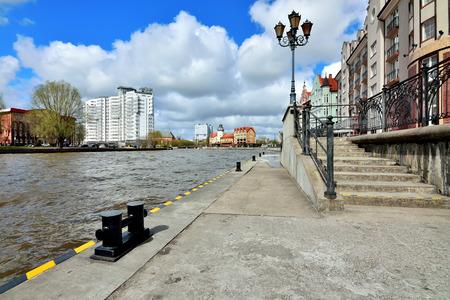 KALININGRAD, RUSSIA - 22 APRIL 2017: Fishing village - Cultural