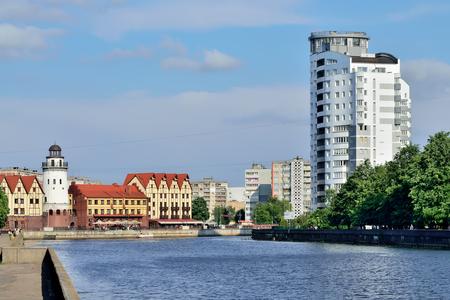 KALININGRAD, RUSSIA - MAY 25 2014: Fishing village - Cultural an Editorial