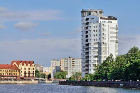KALININGRAD, RUSSIA - MAY 25 2014: Fishing village-Cultural and