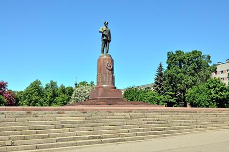 Monument to revolutionary leader Mikhail Ivanovich Kalinin. Kaliningrad, Russia
