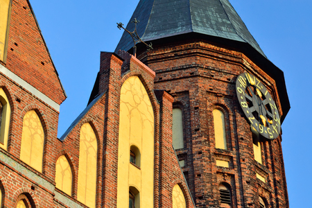 Koenigsberg Cathedral, Gothic temple of the 14th century. Symbol of Kaliningrad (until 1946 Koenigsberg), Russia. Tourist attraction, Monument of architecture Stock Photo
