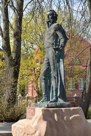 Kaliningrad, Russia - April 20, 2019: monument to the great Russian commander Mikhail Illarionovich Kutuzov, statesman and diplomat Stock Photo - 137708832
