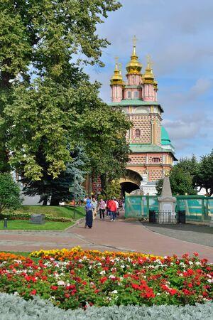 Sergiev Posad, Moscow region, Russia - August 15, 2019: Trinity-Sergiev Lavra, most important Russian monastery, Church of the Nativity of St. John the Baptist Stock Photo - 137710363