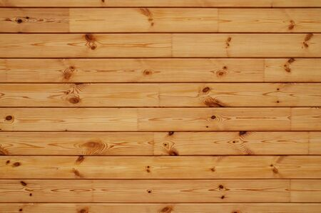 Coniferous wooden wall. Beautiful natural horizontal background Stock Photo - 138336868