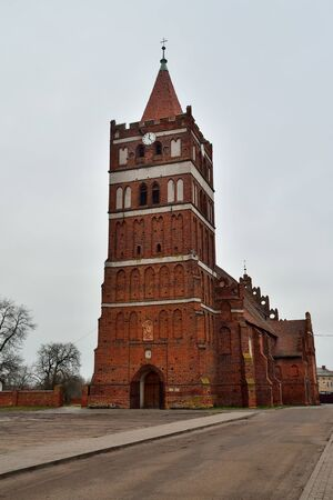 Church Of St. George The Victorious, formerly Friedland Church, founded in 1313. Pravdinsk, formerly Friedland, Kaliningrad region, Russia Stock Photo - 145074401