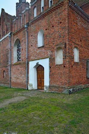Church Of St. George The Victorious, formerly Friedland Church, founded in 1313. Pravdinsk, formerly Friedland, Kaliningrad region, Russia Stock Photo - 145204618