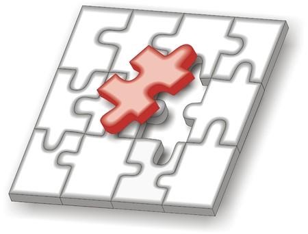 jigsaw puzzle last piece Stock Vector - 8597905