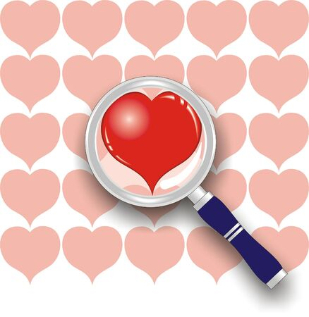 heart under: heart under magnifying glass