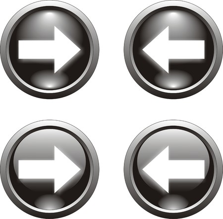 arrow left icon: black arrow button                 Illustration