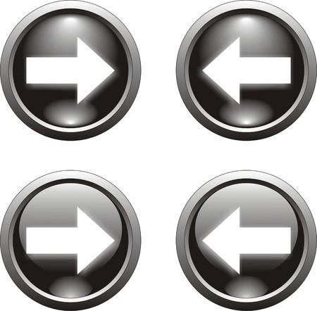 boton flecha: bot�n de flecha negra                 Vectores