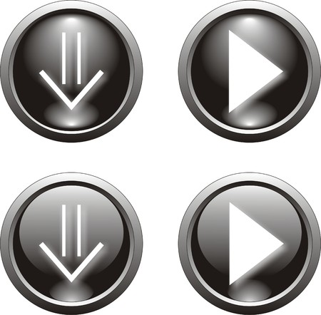 black web  button                 Vector