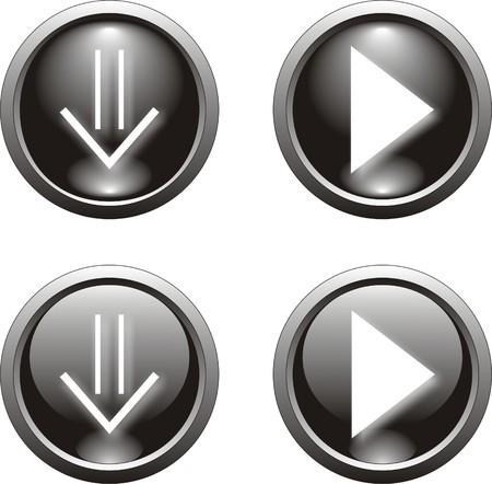 black web  button                 Vector