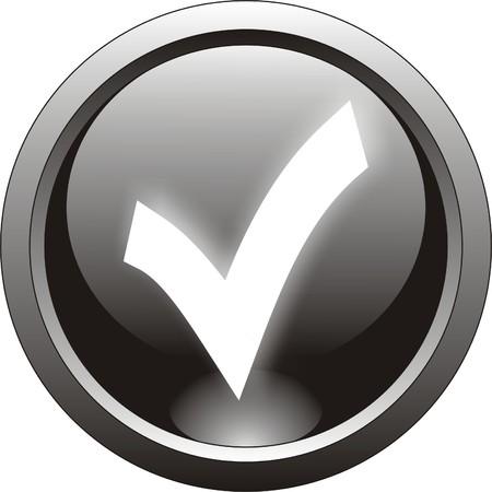 tick: ic�ne noir de tiques ou checkmark