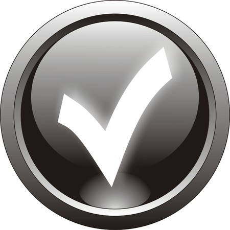 garrapata: icono negro de marca o marca de verificaci�n