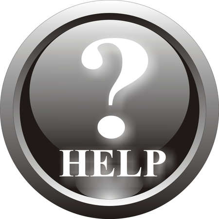 black question and help  button Stock Vector - 8737441